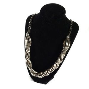 BOGO Dark Silver Twisted Chain Necklace